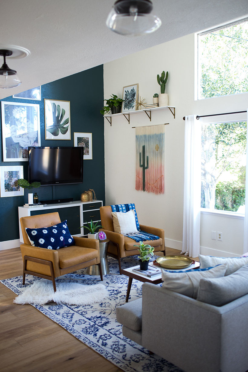 ORC Week 6: Bohemian Eclectic Family Room Reveal
