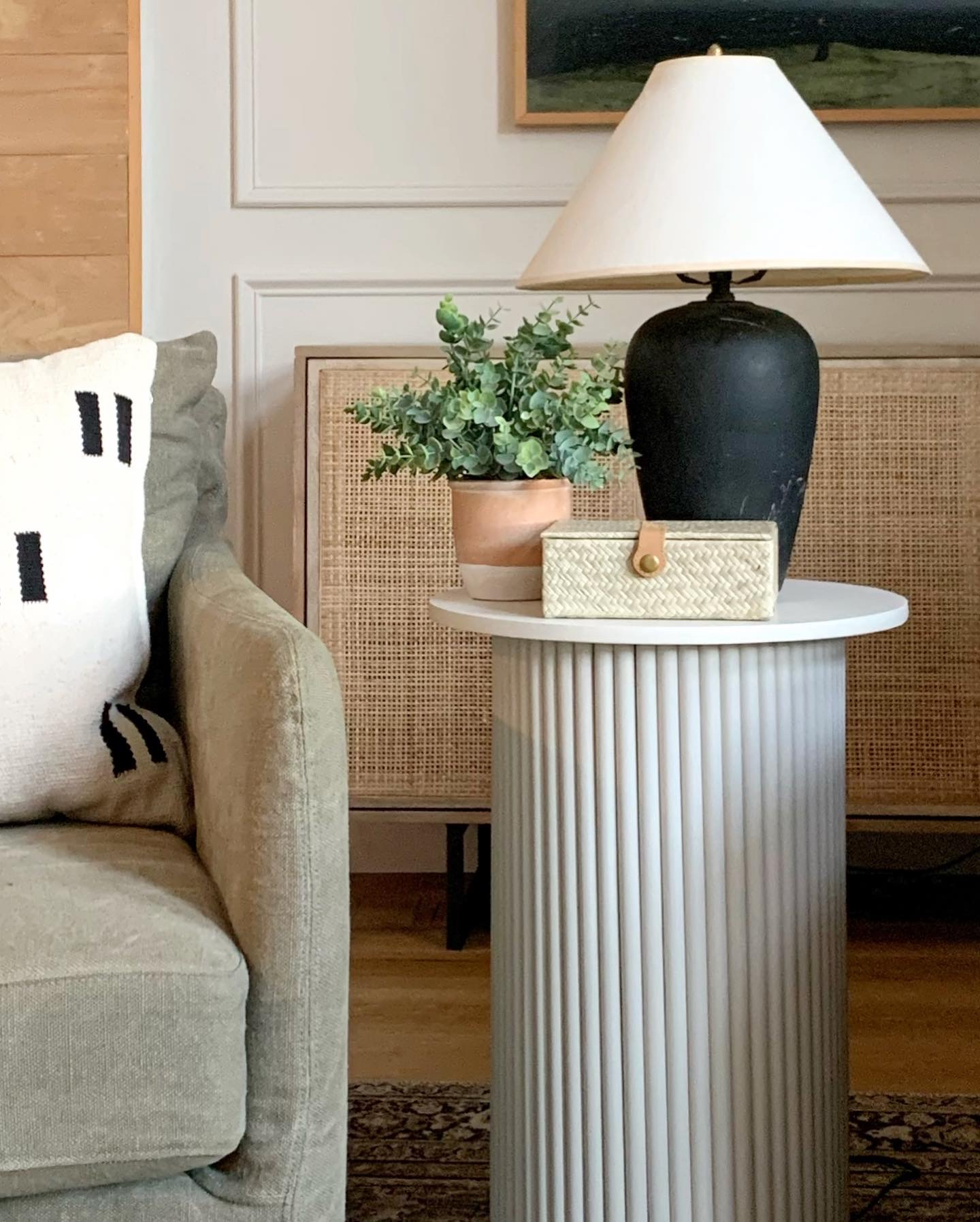 DIY fluted side table by Kismet House